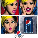 Pop Art Beyonce Ads for Pepsi