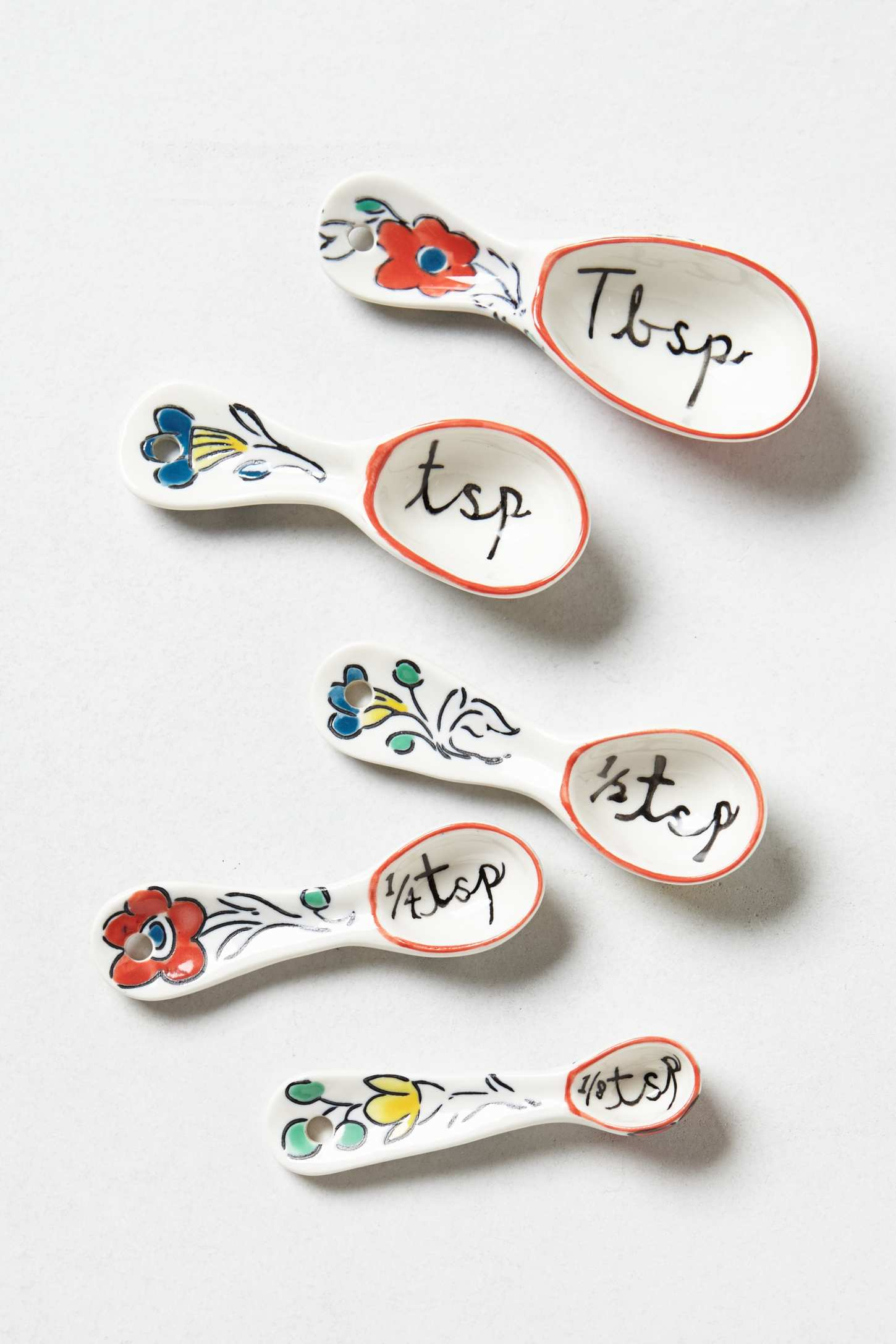 anthro Flowerpatch Measuring Spoons