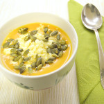 The most amazing pumpkin+carrot soup!