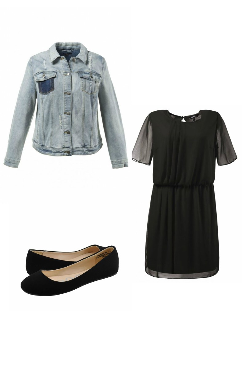 ulla denim and black