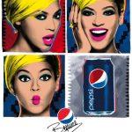 Pop Art Beyonce Ads for Pepsi