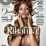 Rihanna and Damien Hirst for the 25th Anniversary Assue of British GQ